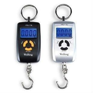 Портативные электронные цифровые подвесные весы с дискретой 10 грамм и макс. весом 45 кг WeiHeng