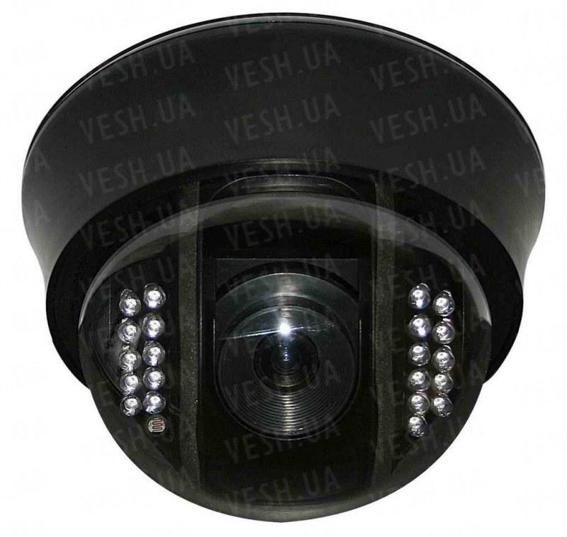 """Внутрення купольная CCTV цветная охранная камера видеонаблюдения 1/3""""COLOR SONY Super HAD II, Effio-E, 700 TVL, OSD, 0 lux, ИК до 20 м (модель NCDOTIR 21)"""