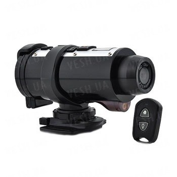 Спортивный автономный водонепроницаемый видеорегистратор HD 720P с разрешением 1280x720@30FPS с пультом ДУ (модель Poseidon)