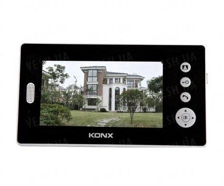 Беспроводной цветной видеодомофон с узорчатой панелью и 7-ми дюймовым LCD монитором с шифрованием видеосигнала и расстоянием до 200 метров (мод. PH7001)
