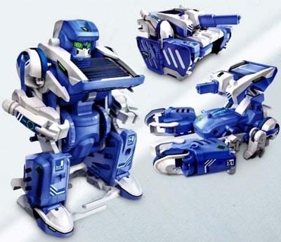 Интересный трансформер (скорпион, танк и робот) 3 в 1, работающий на экологическом топливе – солнечном свете,подарок, подарки