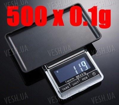 Весы портативные цифровые ювелирные 500г x 0.1г