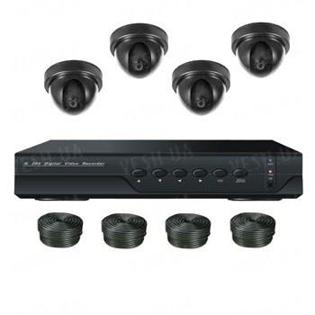 Супербюджетный 4-х камерный комплект для внутреннего видеонаблюдения (4 внутренних камер)
