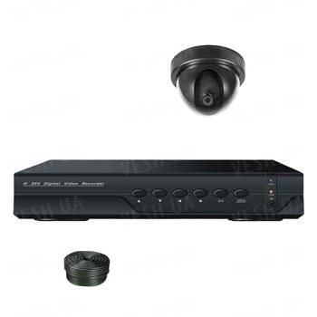 Супербюджетный 1-но камерный готовый комплект внутреннего видеонаблюдения для самостоятельной установки