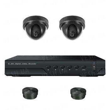 Супербюджетный 2-х камерный готовый комплект внутреннего видеонаблюдения для самостоятельной установки (2 внутренних камеры)