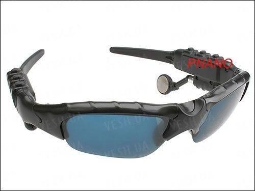 Солнцезащитные мультимедийные шпионские MP3 очки - плеер с памятью 2 Gb (мод. SP-2Gb)