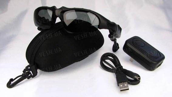 Солнцезащитные шпионские Bluetooth MP3 очки со встроенной Bluetooth гарнитурой, MP3 плеером с памятью 2Gb (мод. SPBT-2G)