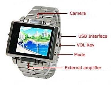 Мультимедийные многофункциональные часы с MP3/MP4 плеером LCD экраном и 4 Gb памяти