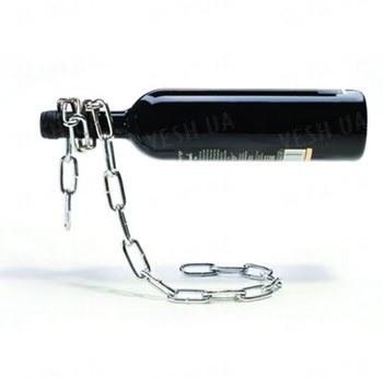Держатель для бутылок Магическая цепь - прикольный гаджет для создания иллюзии подвешенной в воздухе бутылки