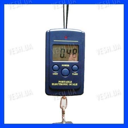 Портативные электронные цифровые подвесные весы с дискретой 20 грамм и макс. весом 40 кг (мод. SW-40)