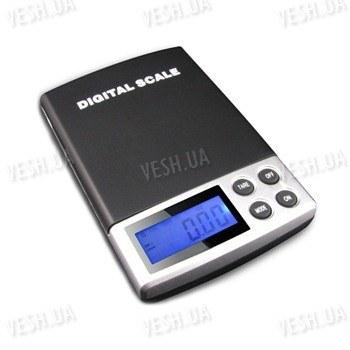 Точные портативные карманные электронные ювелирные мини весы с дискретой 0.1 грамма и макс. весом 1000 грамм (мод. SW-1000/01)