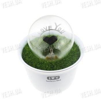 Декоративный романтический светящийся электронный LED цветок в горшке I Love U