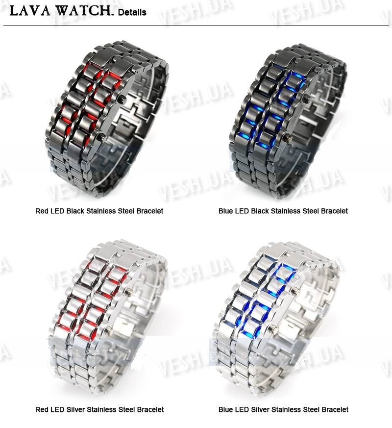 Эксклюзивные наручные LED часы-браслет Iron Samurai
