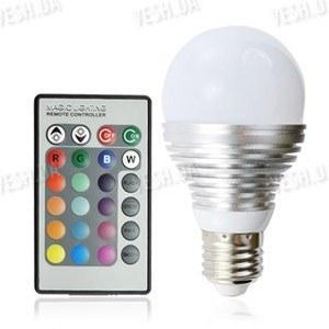16-ти цветная LED лампа освещения 3W с изменяющимися цветами и режимами освещения + пульт дистанционного управления