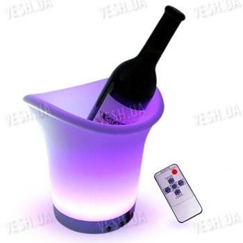 Светодиодная 7-ми цветная LED подставка для бутылок с подсветкой с изменяющимися цветами + пульт дистанционного управления
