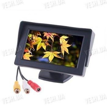 """4.3"""" автомобильный 2-х канальный LCD монитор для камеры заднего вида или автомобильного DVD плеера"""