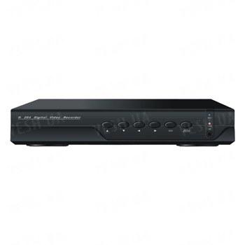 Стационарный бюджетный 4-х канальный H.264 видеорегистратор realtime D1, 1 аудиовход, VGA, сеть, USB, мышь (модель DVR 6504V)