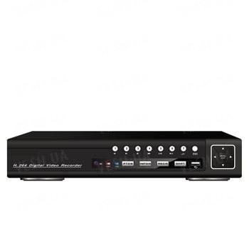 Стационарный 8-ми канальный H.264 видеорегистратор realtime (2СH D1, 6CH CIF) 8 аудиовходов, VGA, сеть, PTZ, USB, мышь (модель DVR 8508AV)