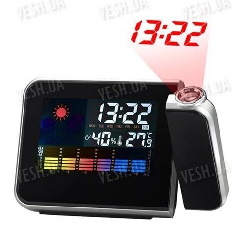 Цифровая домашняя метеостанция с проекцией часов