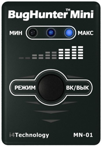 Портативный детектор-обнаружитель жучков и камер «БагХантер Мини»