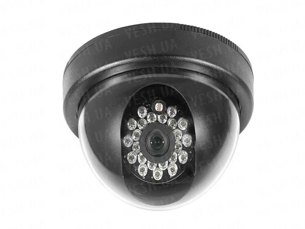 Внутрення купольная CCTV цветная охранная камера видеонаблюдения 1/3 COLOR SONY Super HAD, 420 TVL, 0 lux, ИК до 20 м (модель NCDMIR420)