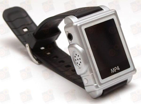 Мультимедийные MP3/MP4  часы - видео плеер с 8 Gb памяти и 1.5 дюймовым дисплеем в пластиковом корпусе