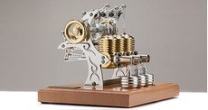 "Двигатель Стирлинга ""Stirling Engine HB33 - Triple Tattoo"" - Производство Германия Boehm Böhm"