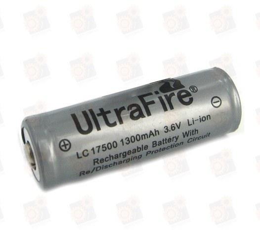 Аккумулятор Ultrafire 17500 Li-Ion 1300 мАч, защищенный