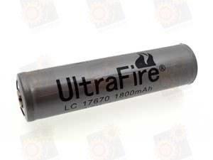 Аккумулятор Ultrafire 17670 Li-Ion 1800 мАч, защищенный
