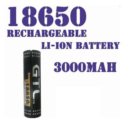Аккумулятор 18650 3.7В 3000мАч GTL