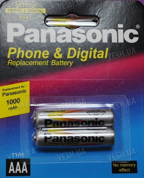 Аккумулятор AAA Panasonic 1000 mAh