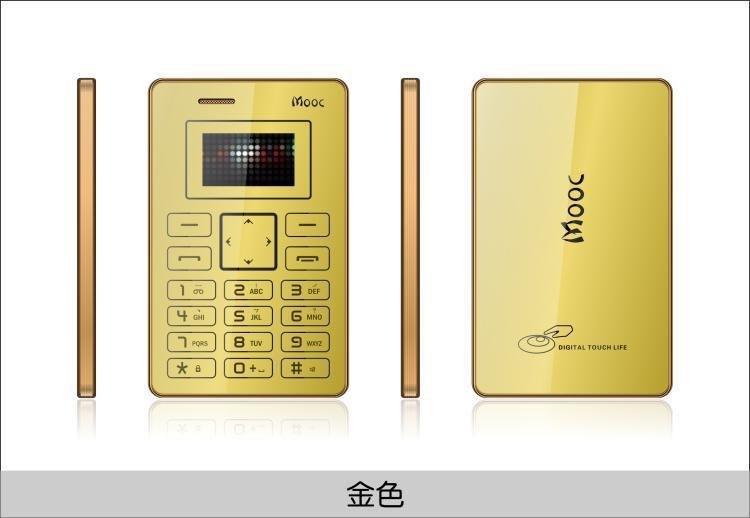 Ультратонкий телефон (кардфон) Mooc X5