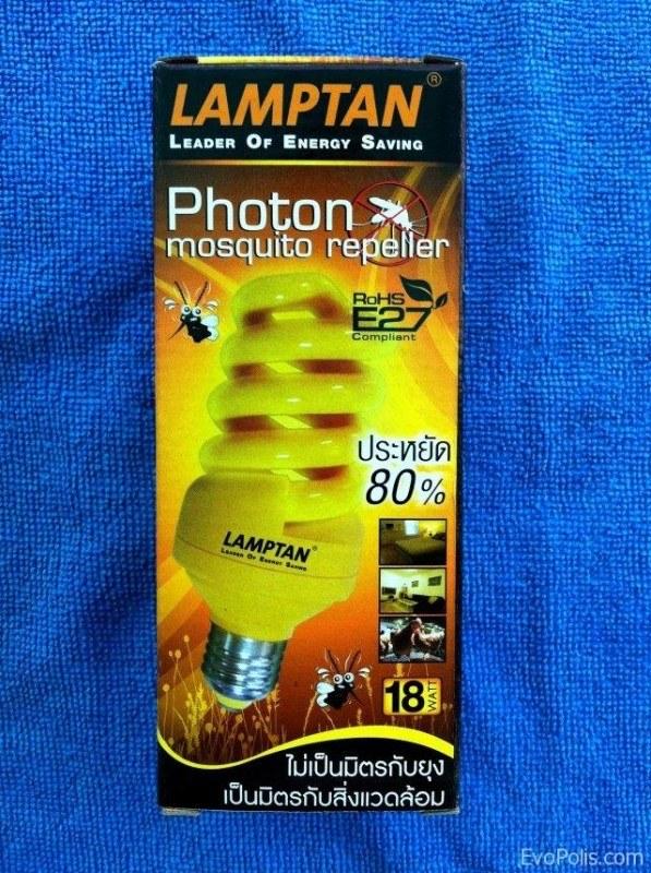 Энергосберегающая лампа от комаров Lamptan
