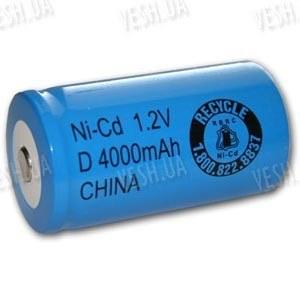 Аккумулятор D 33600 Ni-Cd 4000мАч