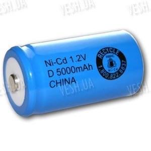 Аккумулятор D 33600 Ni-Cd 5000мАч