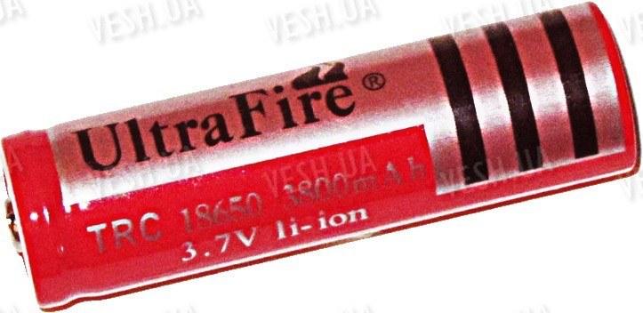 Аккумулятор 18650 Li-Ion 3800мАч, защищенный