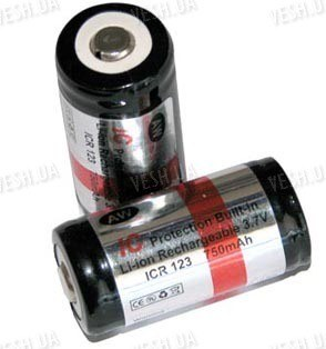 Аккумулятор 16340 (CR123) 750 mAh AW (Защищен)