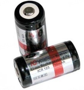 Аккумулятор 16340 (CR123) 750 mAh AW