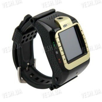 GSM часы - мобильный телефон на 1 SIM карту с 1.33 сенсорным дисплеем, камерой, bluetooth, mp3/mp4 плеером (модель N388)