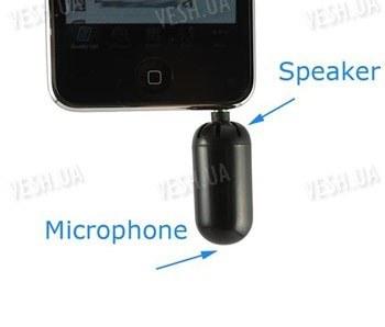 2 в 1 внешний высокочувствительный мини микрофон и динамик в одном корпусе для Iphone, iPod Touch (iTouch) Skype