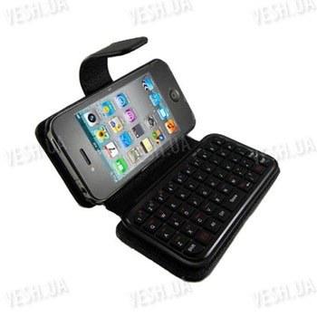 Беспроводная чёрная WiFi мини клавиатура на 49 клавиш для Iphone 4 в комплекте с чехлом