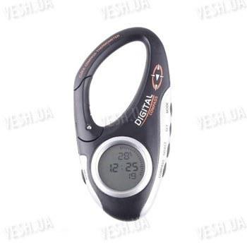 Многофункциональный 3 в 1 походный цифровой компас в виде карабина + термометр + часы для туристов и путешественников