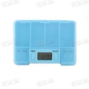 Портативная электронная аптечка - органайзер на 4 отсека - будет напоминать Вам о необходимости своевременного приёма лекарств