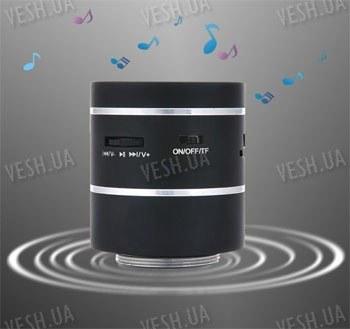 Аккустический автономный вибро динамик 3W с поддержкой SD карт, аудиовходом и FM радио