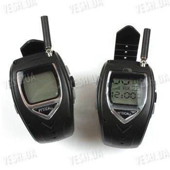 Комплект из 2-х раций Walkie Talkie в виде часов дальностью связи до 1000 метров и временем работы в режиме разговора - до 12 часов (модель RD-018)