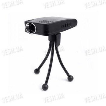 Профессиональный бюджетный 60-ти дюймовый мини проектор на треноге, VGA 640x480, 12 lumen, USB (мод. MP-04)