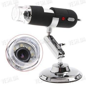 Портативный 2-х мегапиксельный USB микроскоп с увеличением 800 Х