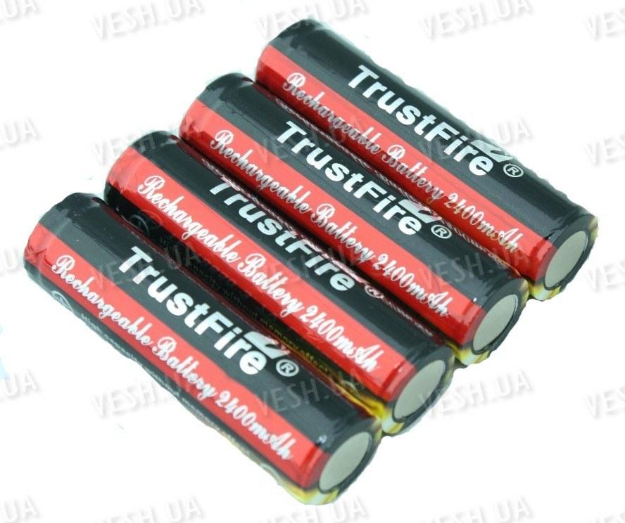 Аккумулятор 18650 2400mAh TrustFire (Защищен)