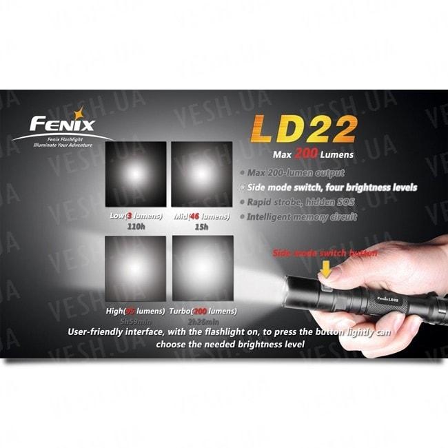 Фонарь Fenix LD22 Cree XP-G (S2)