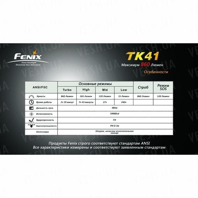 Фонарь Fenix TK41 Cree XM-L (U2)